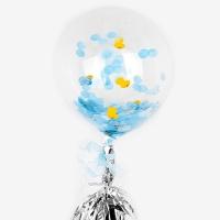 [인디고샵] 블루 도트 태슬 파티풍선 set