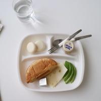 아이보리 다용도식판(혼밥, 다이어트용, 2type)