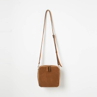 Square Cross Bag (Brown) - P003C_BR