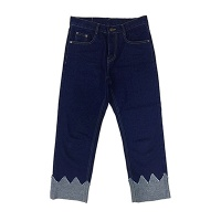 Wide Crown Roll-up Jeans(unisex)