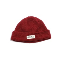 WH LABEL WATCH CAP - MAROON