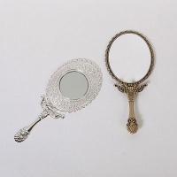큐티메탈 타원 휴대용 접이 손거울