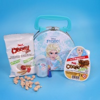디즈니 겨울왕국 틴케이스 랜덤 피규어+자이니 초콜릿