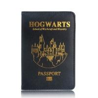 호그와트 금박 여권 케이스 해리포터 컨셉 지갑 굿즈