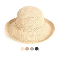 [디꾸보]썸머 고리 끈 리본 라피아 썬캡 모자 JAN339