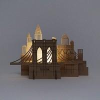 [퍼니피쉬] 크래프트라이츠 - 브루클린 브릿지 - LED/Candle