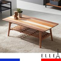 ELLE 엘르 천연무늬목 선반수납형 접이식테이블 TR001