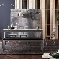 [채우리] 바움 세라믹 6인식탁세트(의자/벤치)