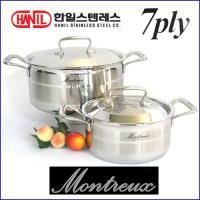 한일 몬트렉스(MONTREUX) 7PLY(7중구조)냄비 2종SET(18+24)-백화점판매용