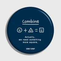 [어프어프] 손거울 Shape combine-navy