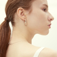wave hoop earring