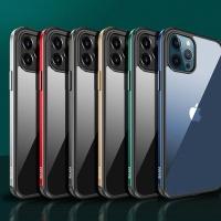 아이폰12 PRO MAX MINI 컬러라인 투명 강화유리케이스