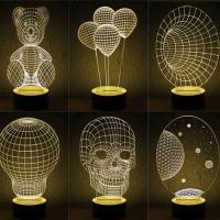 WOODY CREATIVE 3D LED LIGHT 원목 3D LED조명 -10종
