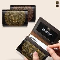 [여성카드.명함지갑]보노(만다라)천연가죽 카드지갑