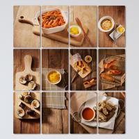 pf073-멀티액자_맛있는분식메뉴