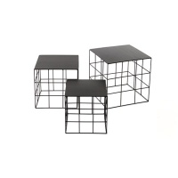 Reton Coffee Table Black 3size