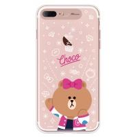 라인프렌즈 iPhone7+  8+ CHOCO Cheer-UP LIGHT CASE
