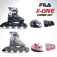 휠라(FILA) X-ONE COMBO (블랙/블루),(핑크/화이트)[인라인+헬멧+보호대 세트상품]
