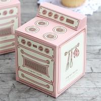 [인디고샵] 핑크 빈티지 오븐 머핀상자 (2개)