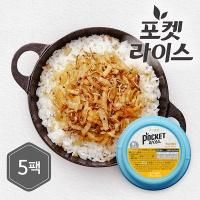 [포켓샐러드]미니컵밥 백김치멸치 5팩