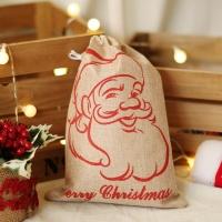 패브릭 산타 선물자루 (소) 산타