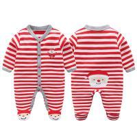 산타 줄무늬 발싸개 우주복(0-12개월) 203711