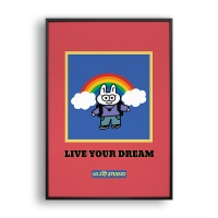 LIVE YOUR DREAM / 일러스트 액자