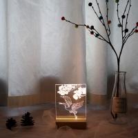 두루미와 소나무 아크릴 무드등 만들기 패키지 DIY
