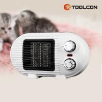 툴콘 팬히터 (500W 800W겸용) 화이트 TC-800D WHITE