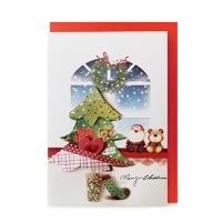 크리스마스카드/성탄절/트리/산타 크리스마스 풍경(FS1019-6)