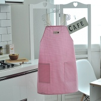 캔디체크 방수앞치마(핑크)