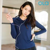 올라 휘트니스 티셔츠 OF3014 네이비 트레이닝/긴팔