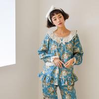 [쿠비카]빅 플라워 모달면 투피스 여성잠옷 W394