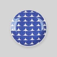 "Night sea wave 6"" plate"