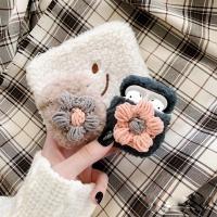 에어팟케이스 1/2 겨울 털 뜨개 패브릭 플라워 실리콘