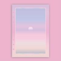 [A5] 6공 다이어리 리필 속지_선셋