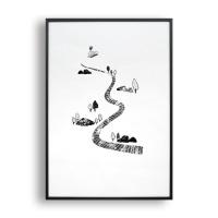 코끼리 여행 / 일러스트 액자