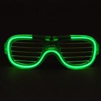 LED 와이어점등 셔터쉐이드안경 [그린]