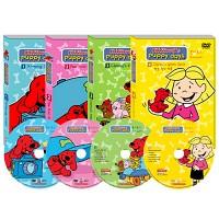 [영어 DVD] Cliffords Puppy Days : 클리포드퍼피데이 4종세트(DVD4개+영한대본1권)