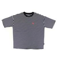 츄바스코 M. T-shirt. OF Stripe Black M17109