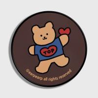 Bear heart-brown(스마트톡)