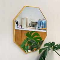 골드 팔각거울 벽거울 인테리어거울 600x600 3색 택1
