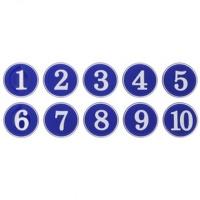 번호판 1-500 (파랑) 10개입1세트 (1110) 표지판 안
