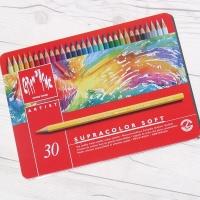 [CARAN DACHE] 까렌다쉬 전문가용 수채색연필-슈프라컬러 30색 메탈박스