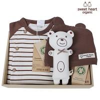 [출산선물/백일선물/돌선물]오가닉 브라운 행복 선물세트