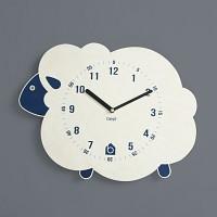 [BEZIT] BLUE LAMB Wall Clock(무소음 벽시계)