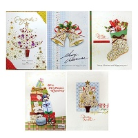 FS1028(5종 한세트) 크리스마스카드 카드 성탄카드