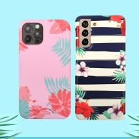 하와이안 플라워 하드 슬림 케이스 아이폰 갤럭시