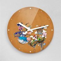 하야작가 상상의세계 무소음아크릴벽시계 (58418)