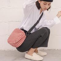 선라이즈 여성 체크무늬 에코백 데일리 캔버스백 크로스백